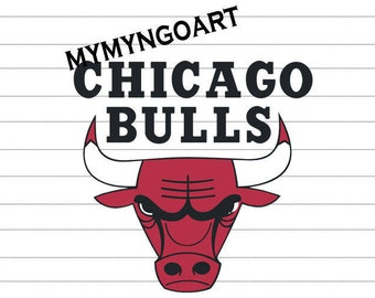 Chicago Bulls Logo Svg, Eps, Dxf, Pdf, Png, Jpe for Cricut and Silhouette-Digital Download.
