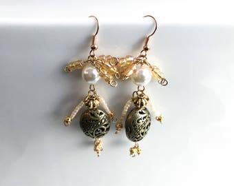 Fairy Earrings - Bead Ladies - Jewelry People - Bead People Earrings - Quirky Earrings - Norwegian Design - Norwegian Jewelry