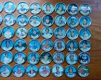 1987 Topps Collectible Baseball Coins - Full Set! - includes Ripken, Reggie Jackson, Sandberg, Ryan, Eddie Murray, Mattingly - 48 in set