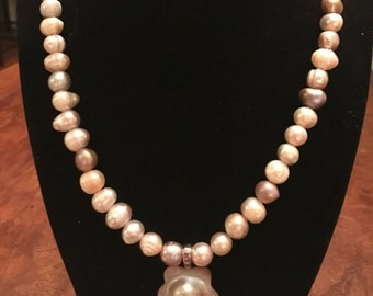 Pink Freshwater Pearls Necklace