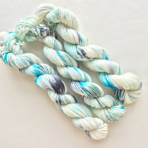 COOLIO hand dyed yarn mini skein