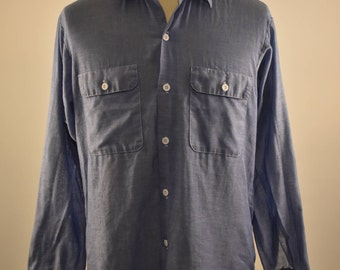 Vintage BIG MAC Chambray Workwear Button Up Shirt