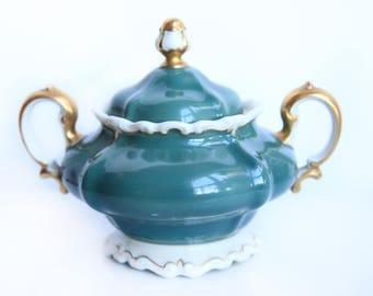Rosenthal Sugar Bowl w/lid ~ Rosenthal Ivory Germany Pompadour ~ Vintage Porcelain Sugar Bowl ~ Victorian / Edwardian Style