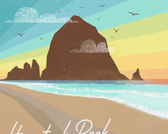 Haystack Rock Cannon Beach Print