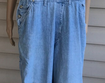 1990's Ladies Blue Jean Bib Overall Jeans Size Medium Free Ship!