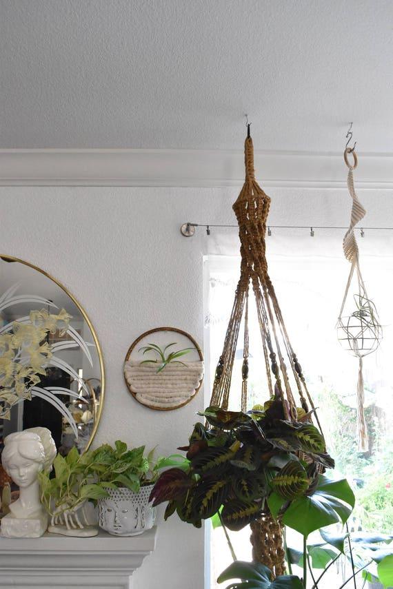 handmade wall hanging air plant holder fiber art