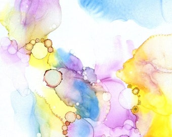 Wall Art Print, Pastel Artwork, Abstract Art, Feminine Print, Alcohol Ink Art Work, Giclee Print, Whimsical Wall Decor, Home Decor Painting
