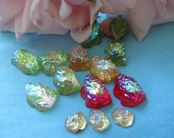 Vintage Art Glass Cabochon...Look Like A Wet Sticy Fruit Candy!