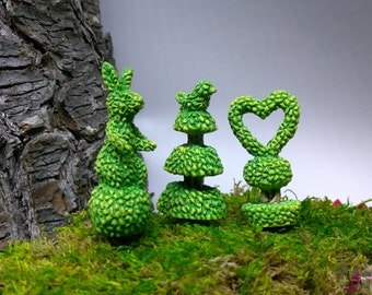 Creatively Cut Bushes for Fairy Garden or Dollhouse