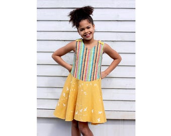 Girl Baby Girl Dress sewing pattern Pdf, Baby Girl Pinafore sewing pattern, newborn - 10 years, MERMAID Dress.  Instant Download