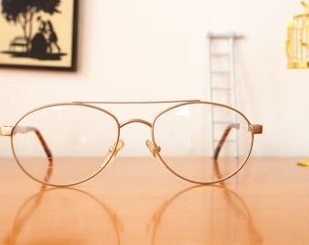 Vintage Eyeglass 1990's Aviators Starng No Nmae Eyeglasses New Old Stock Frames Interesting shape Cheap