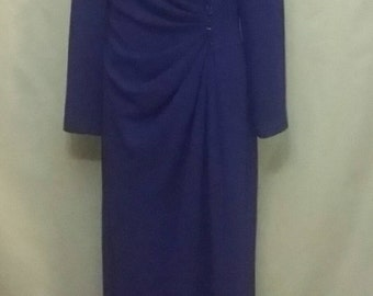 SHOP CLOSING 70% OFF Vintage purple blue evening gown Nahdre'e gown beaded evening gown mother of bride or groom vintage womens gowns size 1