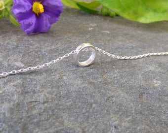 100% Sterling Silver Karma Circle Necklace, Circle Necklace, Everyday Necklace, Gift Ideas for her, Dainty Necklace