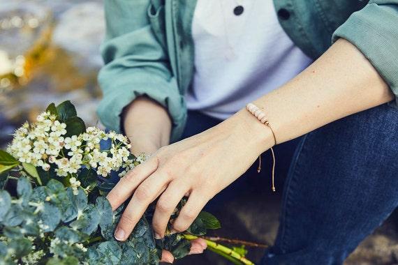 Pink opal bracelet, a good luck stone