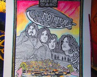 Led Zeppelin Poster Mothership