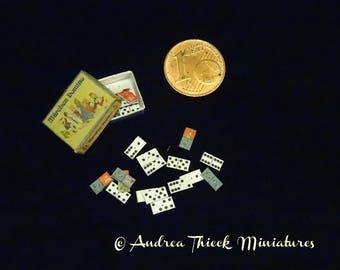 Vintage German Fairy Tale Dominoes Miniature - Artisan Handmade Miniature 1:12 scale