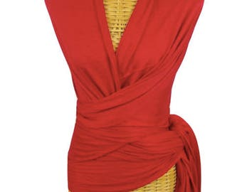 Large Red Bamboo Scarf