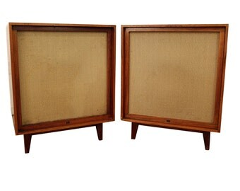 Pair of Mid-Century Danish Modern Bozak Urban 302A Floor Speakers