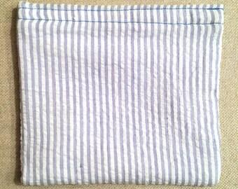 Original Collection Light Blue - Reusable Bag - Sandwich Bag - Waterproof Bag - PUL Fabric - 100% Cotton