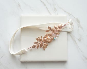 Rose gold bridal garter, Wedding garter, Rose gold Garter, Chic Bridal, Bride, Feminine wedding garter, Bridal accessory, Bridal shower gift