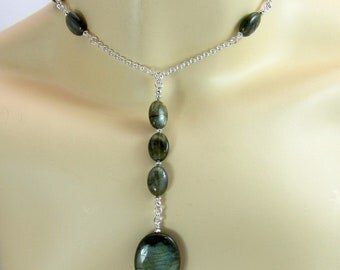 Fire Labradorite necklace