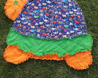 Small Turtle Rag Quilt