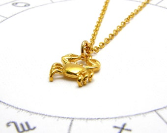 Cancer zodiac etsy cancer necklace cancer zodiac necklace gold cancer necklace for women dainty necklace delicate necklace zodiac constellation aloadofball Image collections