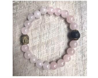 Buddha Love Rose Quartz Bracelet