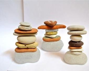 Beach Stone Sculptures, Zen Stones, Meditation Stones, Cairn, Sea Glass, Balancing Stones, Stone Sculptures, Beach Stones, Home Decor
