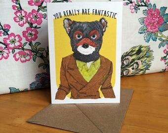 Fantastic Mr Fox Wes Anderson Greeting Card