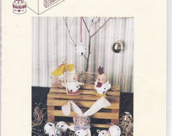 FREE US SHIP Craft Sewing Pattern Twice as Nice Designs Springtime Jingle Bell Body Babies Bunny Rabbit Chick Chicken Rooster  1993 175