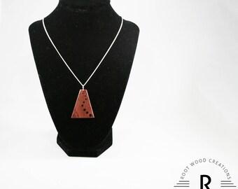 Ascension Purple Heart Wood Necklace Pendant