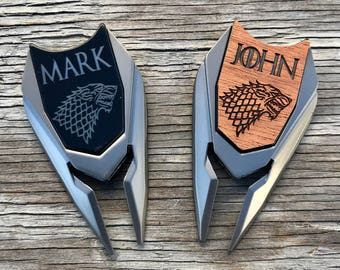 Game of Thrones Personalized Golf Ball Marker Divot Tool Fathers Day Gift Dad Best Man Groom Groomsmen Golf Gift for Men Boyfriend Husband