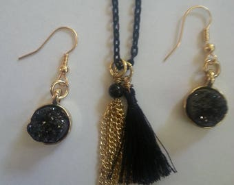 Black colored Tassel Chain - Jewelry