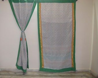 GIFT Indian quilt Hippy curtain Cotton Indian curtain Boho curtain gypsy curtain partition room divider recycled vintage BohemiancurtainQC33