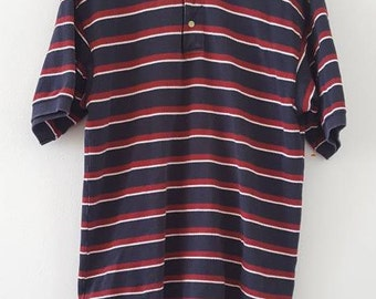 Vintage Gant polo shirt, heavy cotton mesh, medium