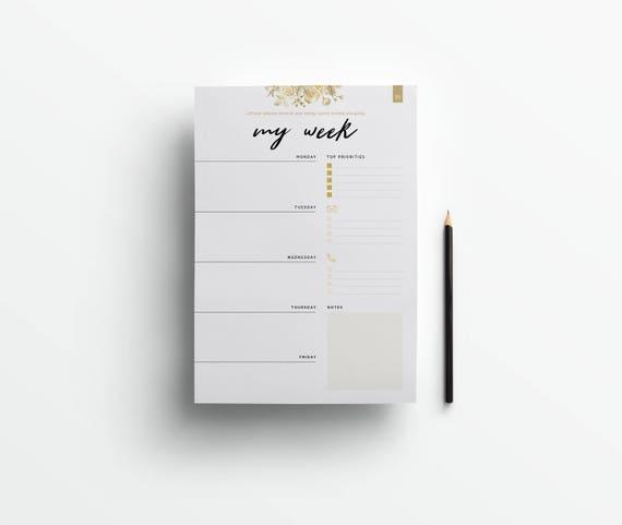 SOFORT DOWNLOAD! moderner Wochenplaner zum Ausdrucken - 53 individuelle und motivierende Seiten für jede Woche