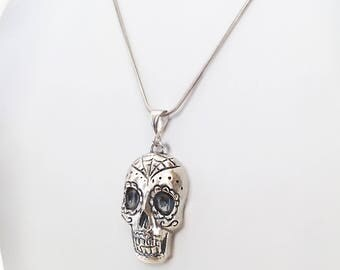 Mexican handmade in 925 Silver skull