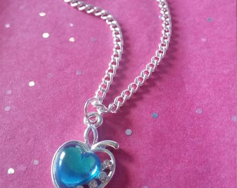 Blue Apple Of My Eye - Silver Plated Necklace