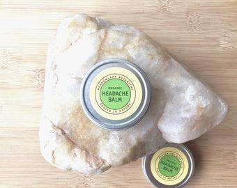 Organic Headache Relief | Headache Balm for Migraine | Stress Relief Gift | Back to School Teacher Gifts | Vegan Stocking Stuffer 1.5oz