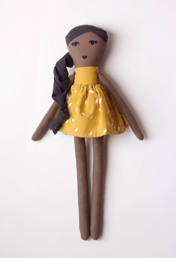 Rad Little Girl Cloth Doll: handmade with organic cotton