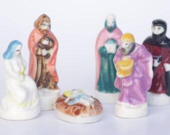 Collection de Bethléem- Nativity- Porcelain/ Ceramic figurines of Noel- Bean Fève- Hand painted- Collection - Fabophilie