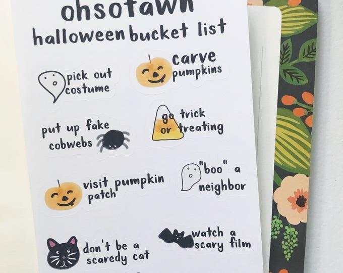 Halloween Bucket List Stickers