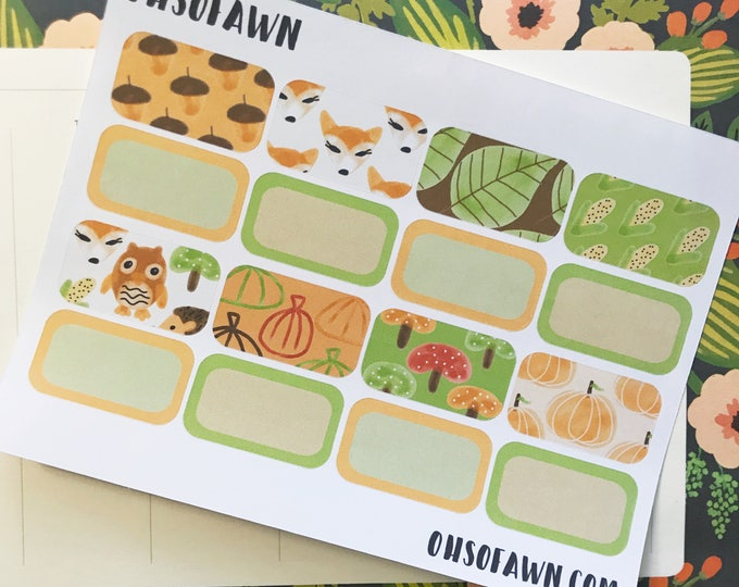 Fall Harvest Half Box Stickers