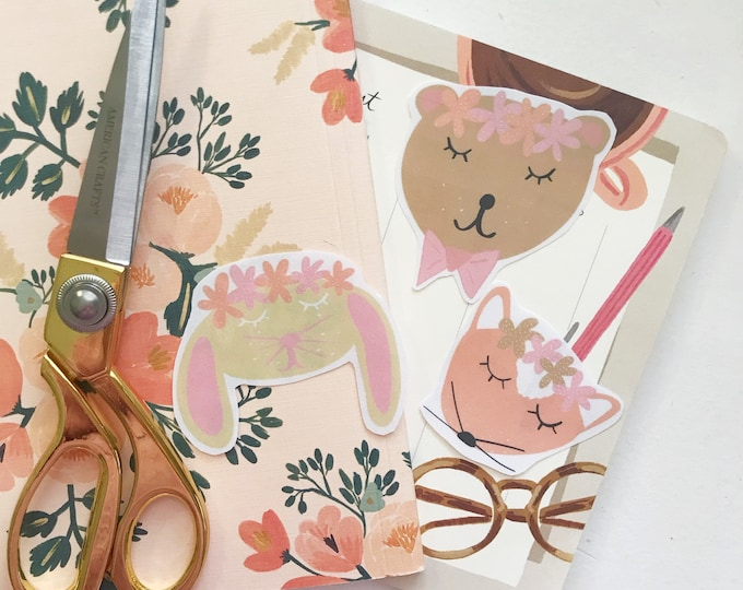 Laminated Woodland Friend Die Cuts