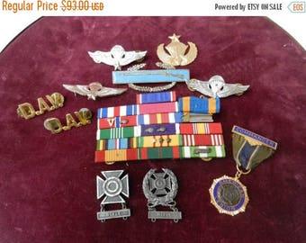 Summer Sale Vintage Medal / Ribbon Grouping Vietnamese jump wings