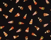 Witchy Black Candy Corn fabric for Halloween by Studio E #3704-99
