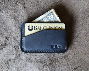 Personalized Black Groomsmen Gift - The Charleston Fine Leather Billfold Wallet - Groomsman Gifts - Wedding Party Gift - Best Man Gift
