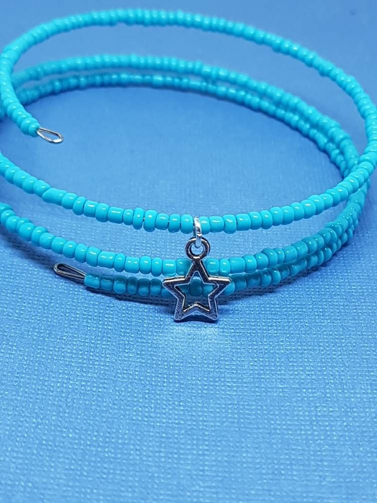Set of 2, Charm Bracelets, Stars, Gifts for girls, Memory Wire ...
