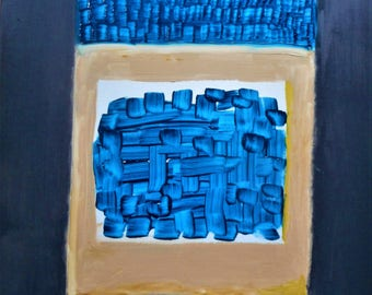 "Original Abstract Oil Painting by Nalan Laluk: ""Boxed In, 2"""